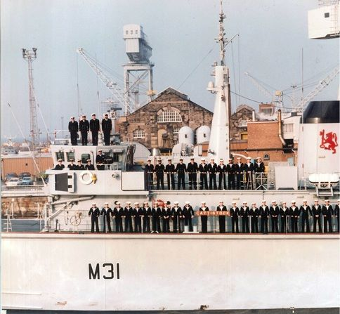 HMS Cattistock joined by First Sea Lord to mark return to service after upgrade   Royal Navy