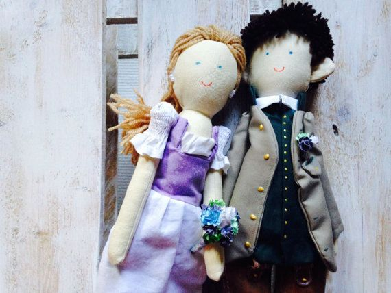 Unique wedding gift for couple Handmade dolls by apacukababa