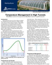 Temperature Management in High Tunnels | USU