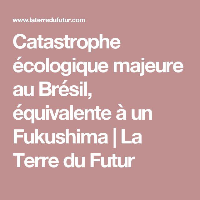 Catastrophe écologique majeure au Brésil, équivalente à un Fukushima   La Terre du Futur