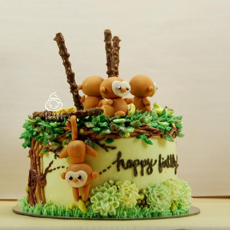 Monkey Cake by Sugar Snake Cakes