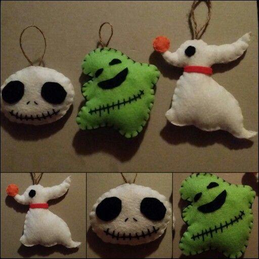 Nightmare Before Christmas Christmas tree ornaments set https://www.etsy.com/shop/TheKawaiiStitchGirl?ref=hdr_shop_menu