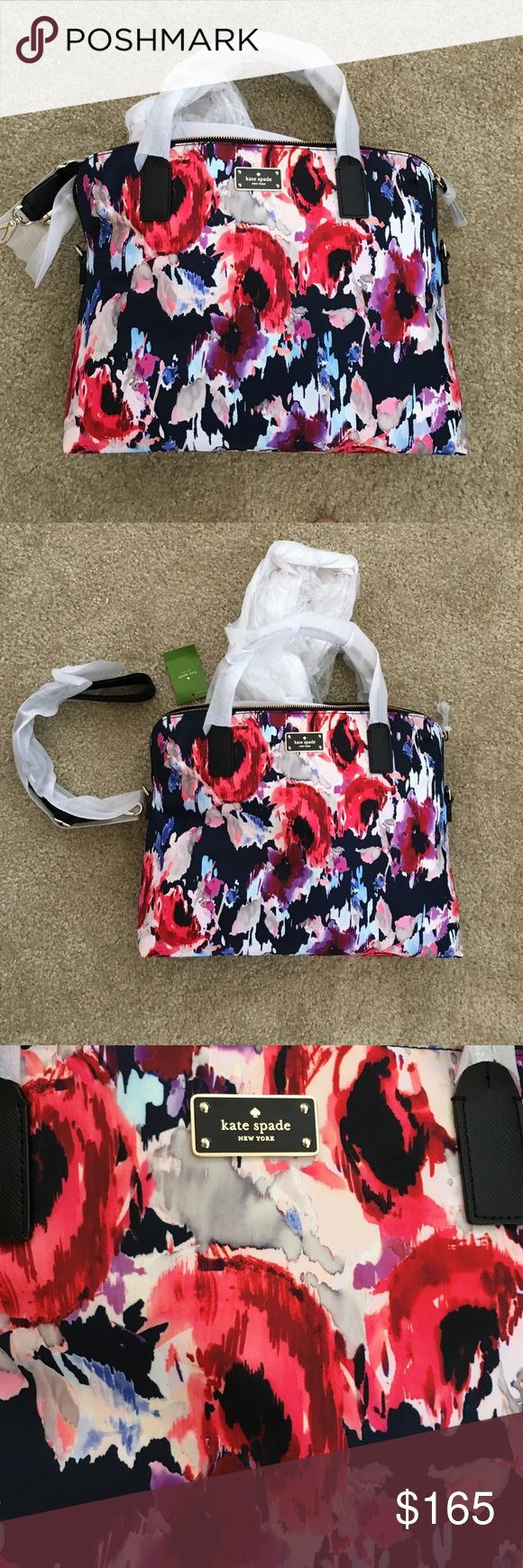 NWT FLORAL KATE SPADE LAPTOP/COMMUTER/WORK BAG This adorable laptop bag is brand new and so comfy on your shoulder. A great way to get that computer out of your purse. 🤗 Fits up to a 15 inch laptop and has a ton of storage for other things too! kate spade Bags Laptop Bags