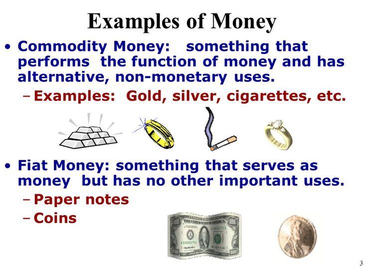 Commodity Vs Fiat Money