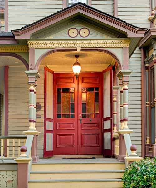 Colonial Front Doors With Glass