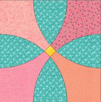Flowering Snowball quilt templates by quiltertemplates.com in various sizes: 8, 9, 10, 12""