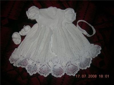 Baptismal Dress/Christening Gown free crochet Master Class tutorial and graph pattern