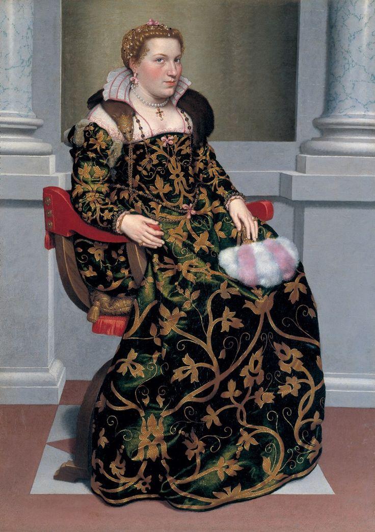 Giovanni Battista Moroni (circa 1525-1578), Retrato de Isotta Brembati Grumelli, entre 1552-1553. Óleo sobre lienzo, Moroni colección, Bérgamo.