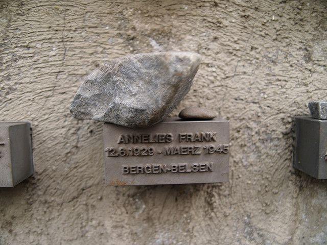 Annelies (Anne) Frank, Bergen-Belsen aged 15. Jewish Graveyard, Frankfurt. by Tecumseh73, via Flickr