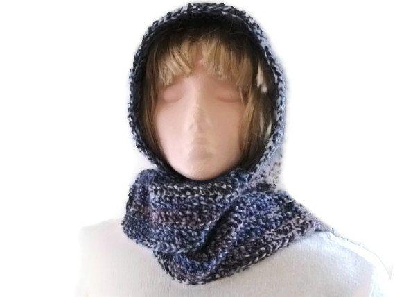 Crochet Pattern Hat Scarf Combo : Crochet PATTERN for Hood & Scarf Combo, Scoodie ...
