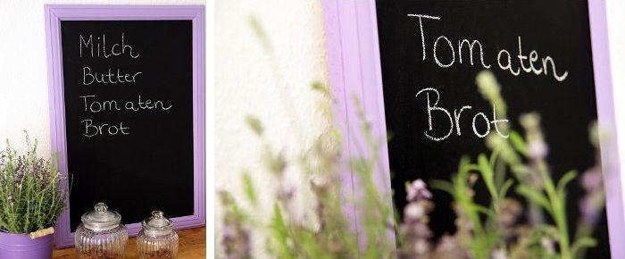 DIY: Gerahmte Tafel von Piepmatz | DaWanda Blog