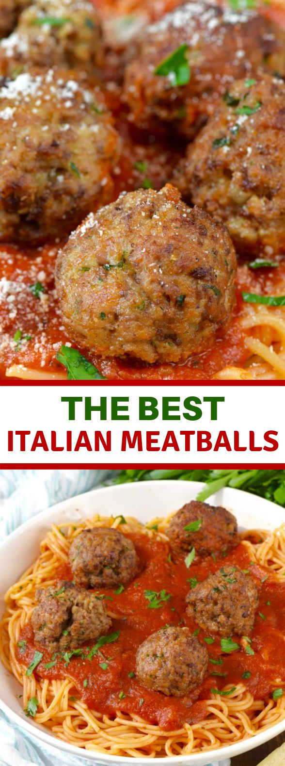 The BEST Italian Meatballs #Dinner #GrandmotherRecipe