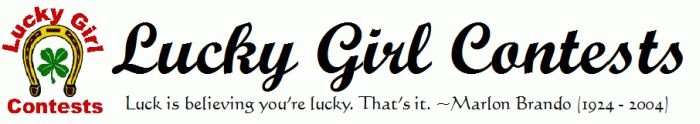 Free sweepstakes, contests and giveaways online. Sweepstakes to win cars, cash and other dream prizes. Instant Win Games. Tips on winning the best sweepstakes. Basically, whatever is going on, Lucky Girl will keep you informed, so you'll know exactly when and how to get in on the winnings!!