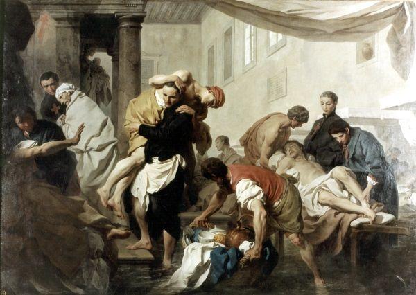 San Camillo de Lellis salva gli ammalati dell'ospedale Santo Spirito / Feste e Cerimonie / Route by subject - Museo di Roma