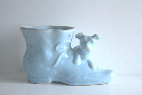 Mccoy Vintage Dog Planter Usa Shawnee Pottery Shoe