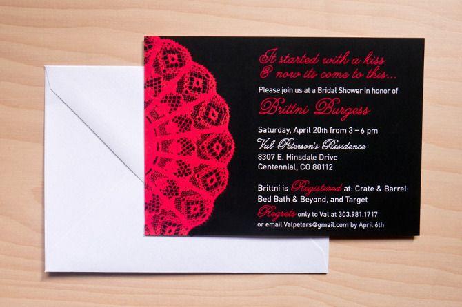 Spanish Wedding Invitations Examples: Spanish Lace Bridal Shower Invitation By: Milk & Ice Cream