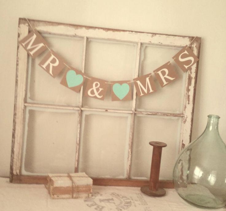 Mint Wedding Banner, Mr Mrs Banner, Mint Wedding, Winter Wedding, Mint to BeTheme, Minted, Rustic Wedding Decor, Mr Mrs Wedding Signs by bannersandbeyond on Etsy https://www.etsy.com/listing/200523279/mint-wedding-banner-mr-mrs-banner-mint