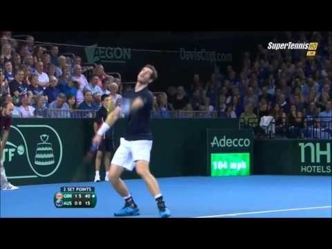 Andy Murray vs Thanasi Kokkinakis Highlights  DAVIS CUP 2015