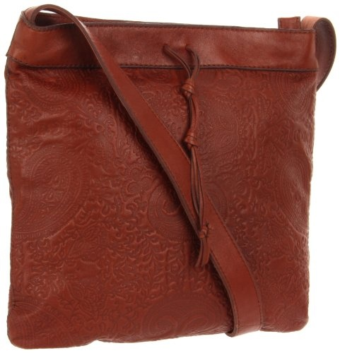Lucky Brand Women's Paisley Emb HKRU1431 Crossbody,Bourbon,One Size
