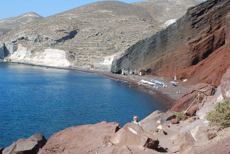 Santorini 2012. Den Røde Strand.
