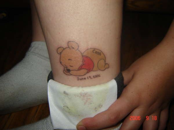 Baby shower winnie the pooh theme baby pooh bear tattoo for How to shower with a new tattoo