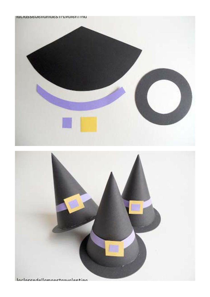 Halloween. DIY Gorros de bruja