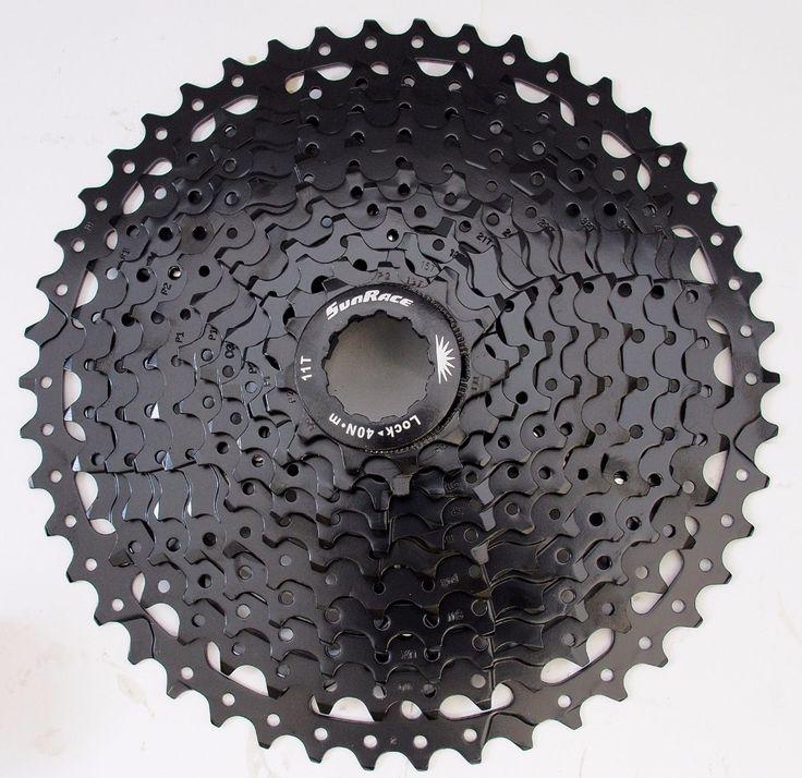 SunRace CSMS8 11-40/42T 11-46T 11 Spd Wide Ratio Mountain Bike bicycle mtb Cassette M8000/M9000 XX1 X01 X1 GX, Black/Champagne