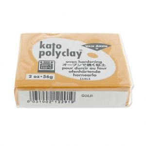 Pâte polymère Kato Polyclay  56 gr Doré (n°291) : L'argile polym