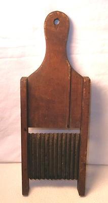Vintage WOOD MANDOLIN Kitchen Slicer Vegetables Mandoline Rustic CRIMP Antique