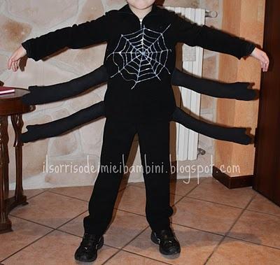 Il Sorriso dei miei Bambini: Halloween: vestirsi da ragno