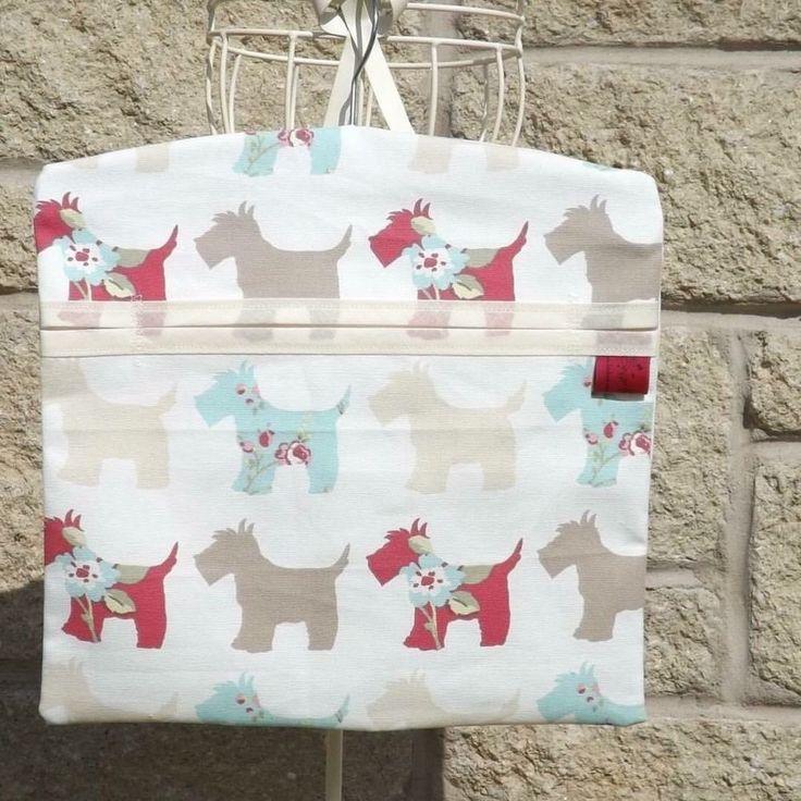 Washing Peg Bag Laundry Pin Bag Scotties Scottish Terriers Kitchen Kitsch  | eBay
