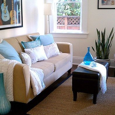 Tan couch  beige walls  blue and looks like light pink accents  Harris    contemporary   living room   san francisco   Present Moment Designs. 33 best Brown  Gray   Blue Rooms images on Pinterest   Blue brown