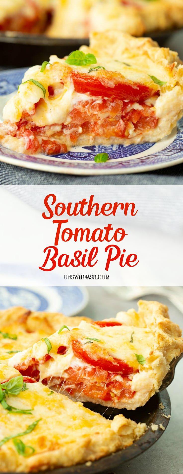 Southern Tomato Basil Pie