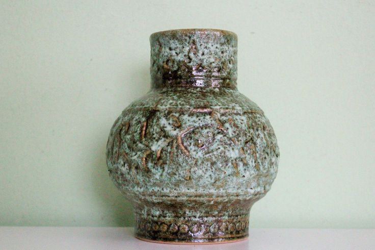 Vintage Large West Germany Pottery Stein Keramik Fat Lava Vase, Ceramic Vase by Grandchildattic on Etsy