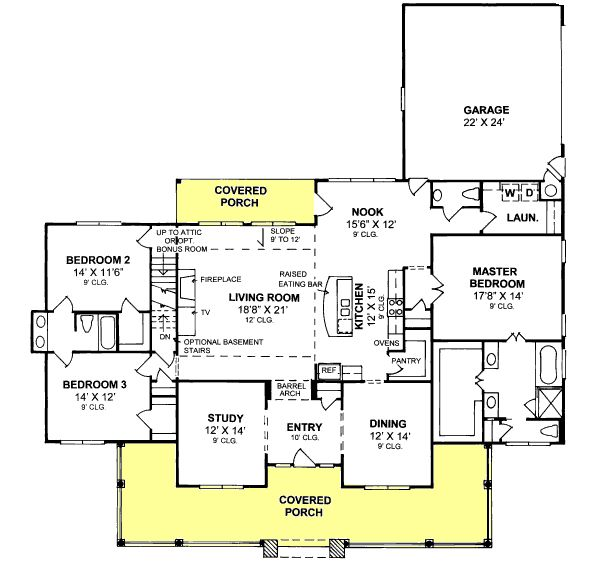 Traditional Style House Plans – 2516 Square Foot H…