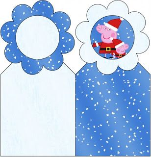 Peppa Pig in Christmas: Free Party Printables.