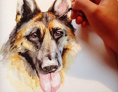 "Check out new work on my @Behance portfolio: ""Pet Portrait""…"
