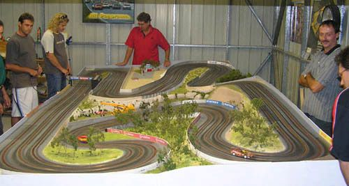 3 Lane Slot Car Track with Scenery Slot car track ideas