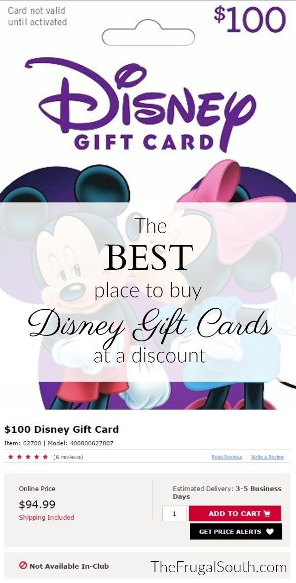 The 3 Best Places To Buy Discount Disney Gift Cards Disney Gift