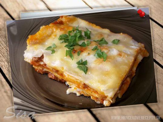 Lasagne s baklažánom.   Hrnčekové recepty