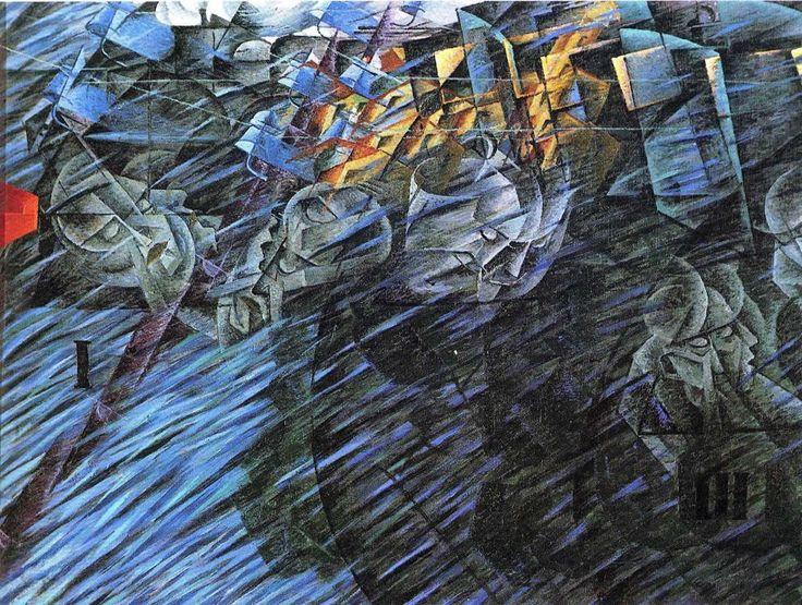 States of mind / those who go - Umberto Boccioni