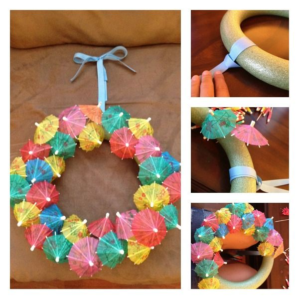 tropical wreath DIY-- perfect for a bridal shower!