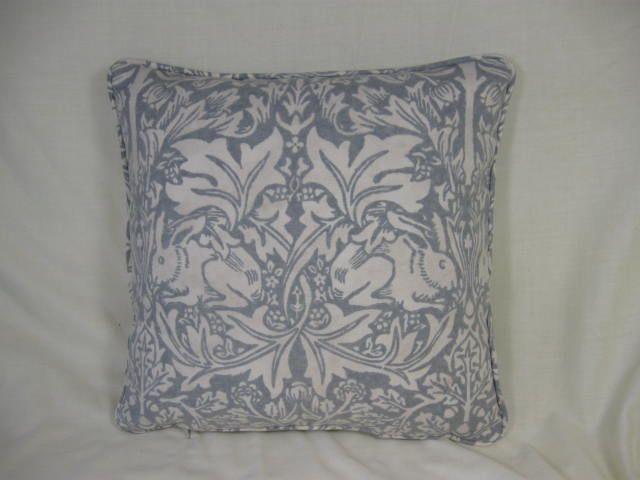 William Morris Brer Rabbit print cushion