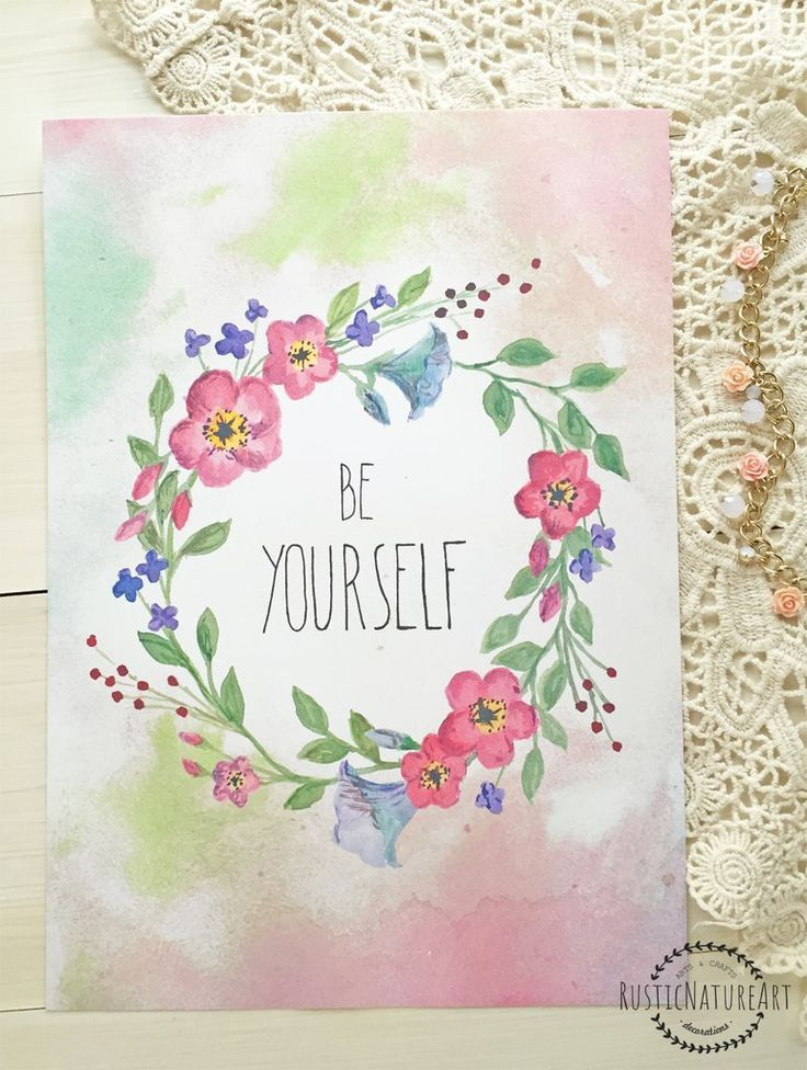 This Floral Girly Quotes Wall Art Print 'Be Your Self' could be perfect wall decor for your girl nursery or even your living room. Those quotes are true for the