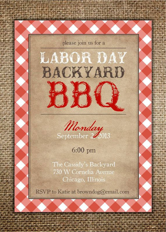 free memorial day bbq invitations