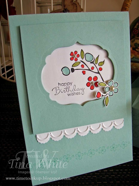 Love the design behind the die cut window: Tina White, Punch Ideas, Cards Ideas, Class Projects, Cards Birthday, Birthday Wish, Handmade Cards, Occa Cards, Border Romance1