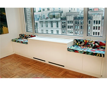 Home Radiator Enclosure and benches (by Manhattan Cabinetry)