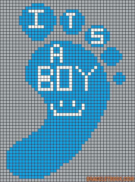 It´s a boy baby perler bead pattern