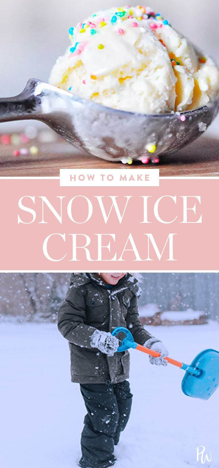Snow Ice Cream Is the Winter Treat Your Kids Have Always Wanted. Learn to make it here. #icecream #homemade #desserts #snowicecream #snow #kids