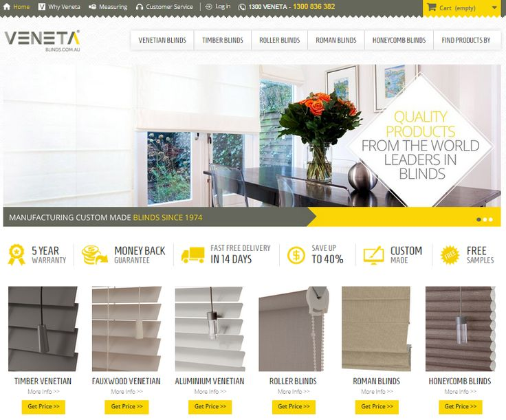 New website launch – Fresh new look – Simple online ordering Process. Go to www.venetablinds.com.au to see more!